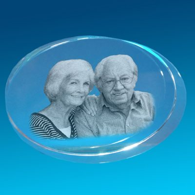 3D Crystal Photo Big Oval 110 X 75 X 40
