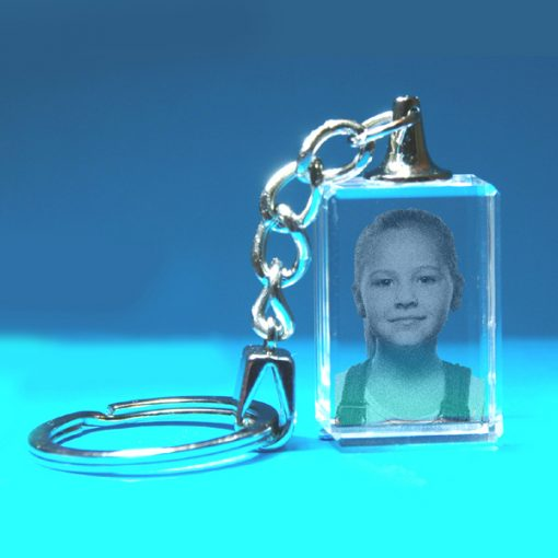2D Crystal Photo Keyring 20 X 30 X 15