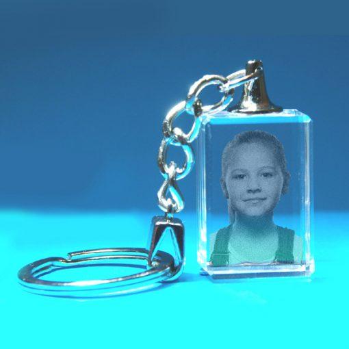 2D Crystal Photo Keyring 20 X 30 X 15