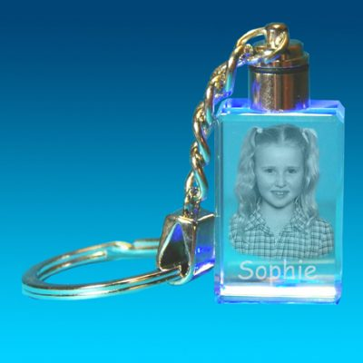 2D Photo Keyring With Light 20 X 30 X 15