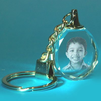 2D Droplet Photo Keyring 25 X 32 X 12