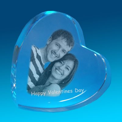 2D Crystal Photo Big Love 100 X 100 X 30