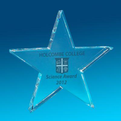2D Crystal Star Trophy 120 X 120 X 30