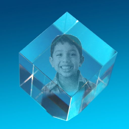 3D Crystal Photo Exhibitor 50 X 50 X 50