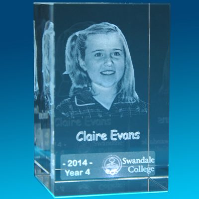 3D Crystal Photo Tower 80 x 50 x 50