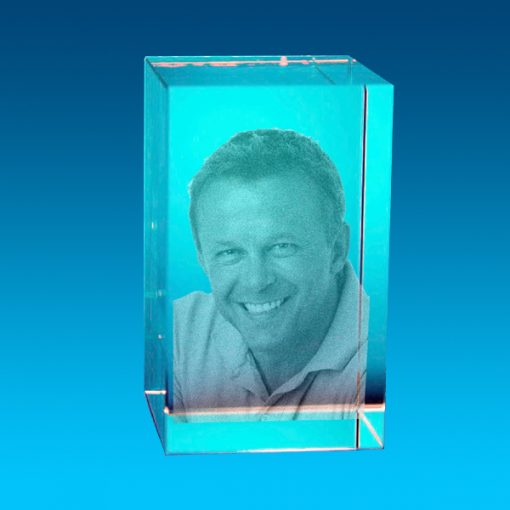2D Crystal Photo Tower 80 x 50 x 50