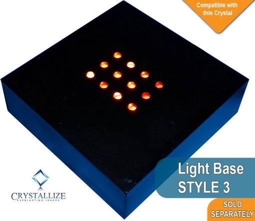 2D Crystal Photo Wedge 120 X 118 X 16-30