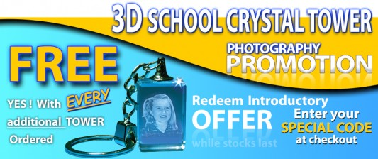 3D School Crystal Tower Promo NEW