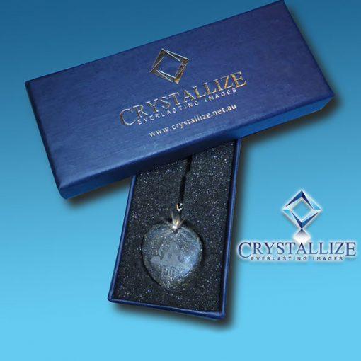 2D Crystal Photo Rectangle Pendant Box